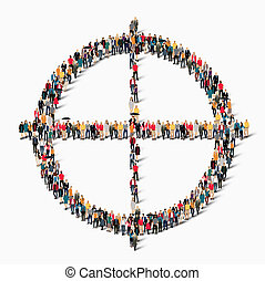 group  people  shape  target goal