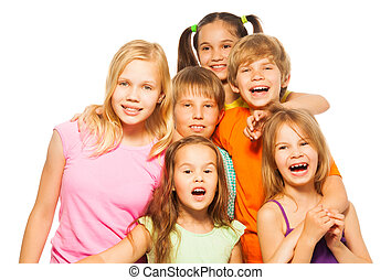Group photo of six children