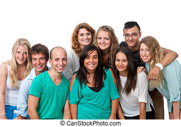 group portrait of young students.