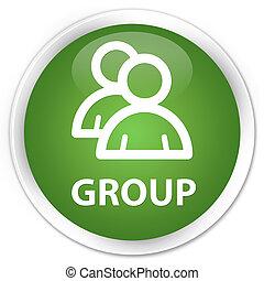 Group premium soft green round button