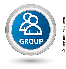 Group prime blue round button