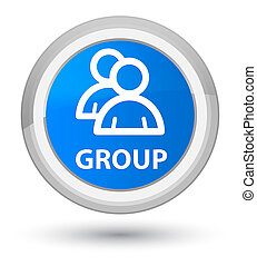 Group prime cyan blue round button