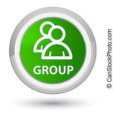 Group prime green round button