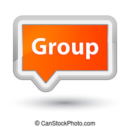 Group prime orange banner button