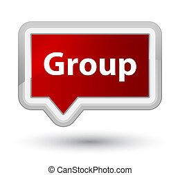 Group prime red banner button