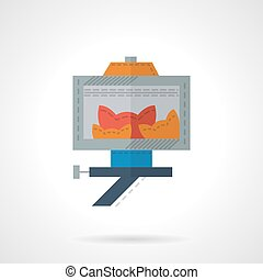 Group self photo flat color vector icon