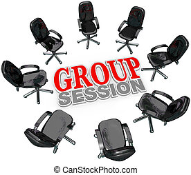 Group Session Meeting Chairs in Circle for Discussion - A...