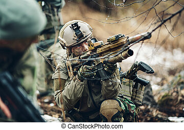 group snipers member of ranger squad