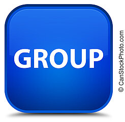 Group special blue square button