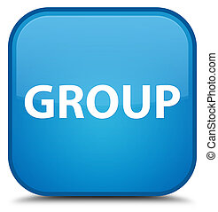 Group special cyan blue square button