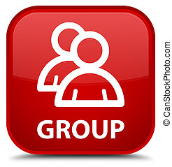 Group special red square button