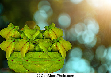 star fruit - Group star fruit isolate on nature background