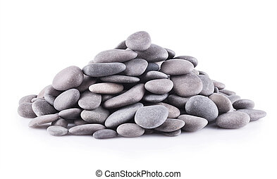 Group stones isolated