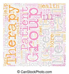 Group Therapy Tips text background wordcloud concept