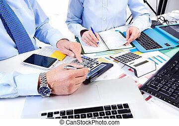 group., trabajando, empresa / negocio
