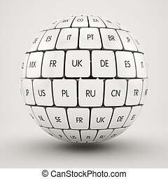 Group translation cubes in the sphere shape