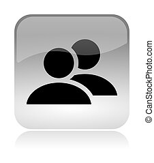 Group users web interface icon