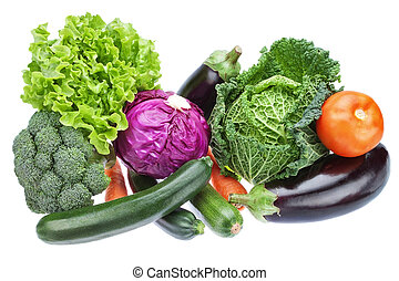 Group variety of vegetables to supply useful for health....