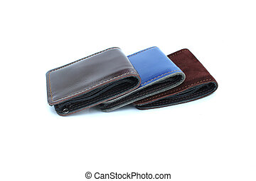 group wallet on isolated white