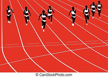 group women runners running