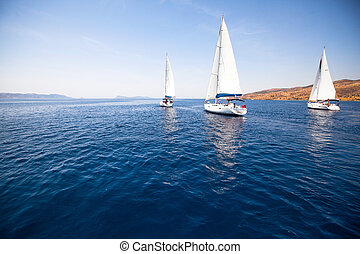 Group yacht sailing