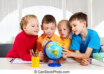 groupe, élèves
