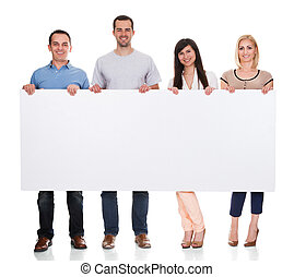 groupe, amis, affiche, tenue