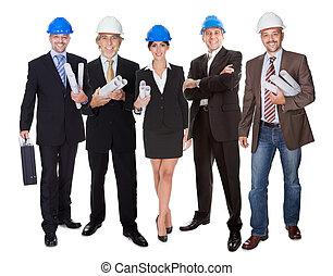 groupe, architectes