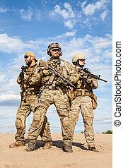 groupe, armée, nous forces, soldats, spécial