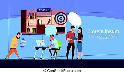 groupe, bureau, business, fonctionnement, compagnie, moderne, gens, espace, équipe, copie, bannière