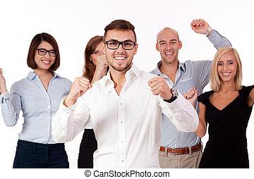 groupe,  Business, gens, ensemble, équipe, heureux