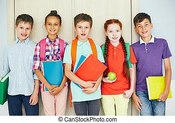 groupe, de, élèves