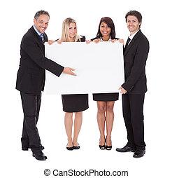 groupe, de, heureux, collègues affaires