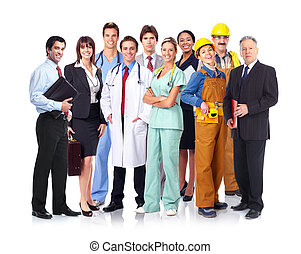 groupe, de, industriel, workers.