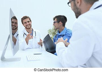 groupe, de, médecins, à, a, fonctionnement, réunion