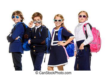 groupe, de, moderne, enfants