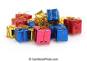 groupe, de, multicolore, dons
