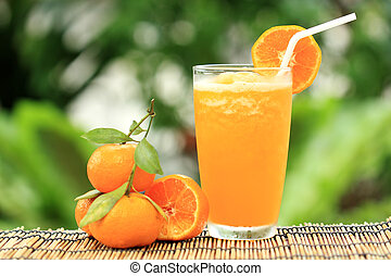 groupe, de, orange, et, orange, smoothie