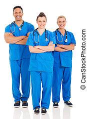 groupe, de, professionnels médicaux, portrait