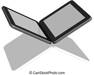 groupe, de, tablette, ordinateurs