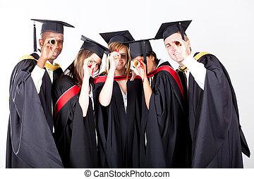 groupe, diplômés
