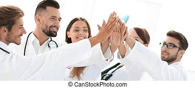 groupe, donner, médecins, élevé, autre, chaque, five.