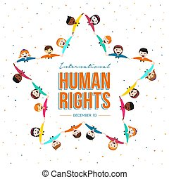 groupe, droits, mois, humain, international, ami
