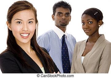 groupe, equipe affaires