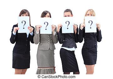 groupe, femmes affaires