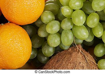 groupe, fruits