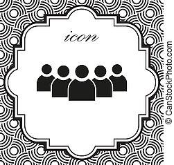 groupe, gens, vecteur, fond, géométrique, icône