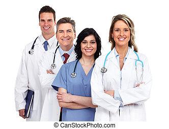 groupe, médecins