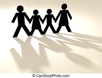 groupe mélangé, famille