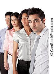 groupe, multiethnic, businesspeople